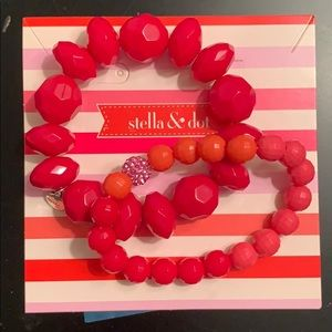 S&D little girls poppy bracelet set